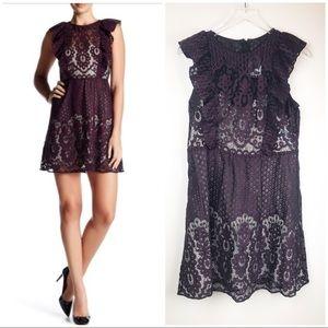 ▪️PARKER▪️Ruffle Sleeve Lace CORDOVAN dress NWT